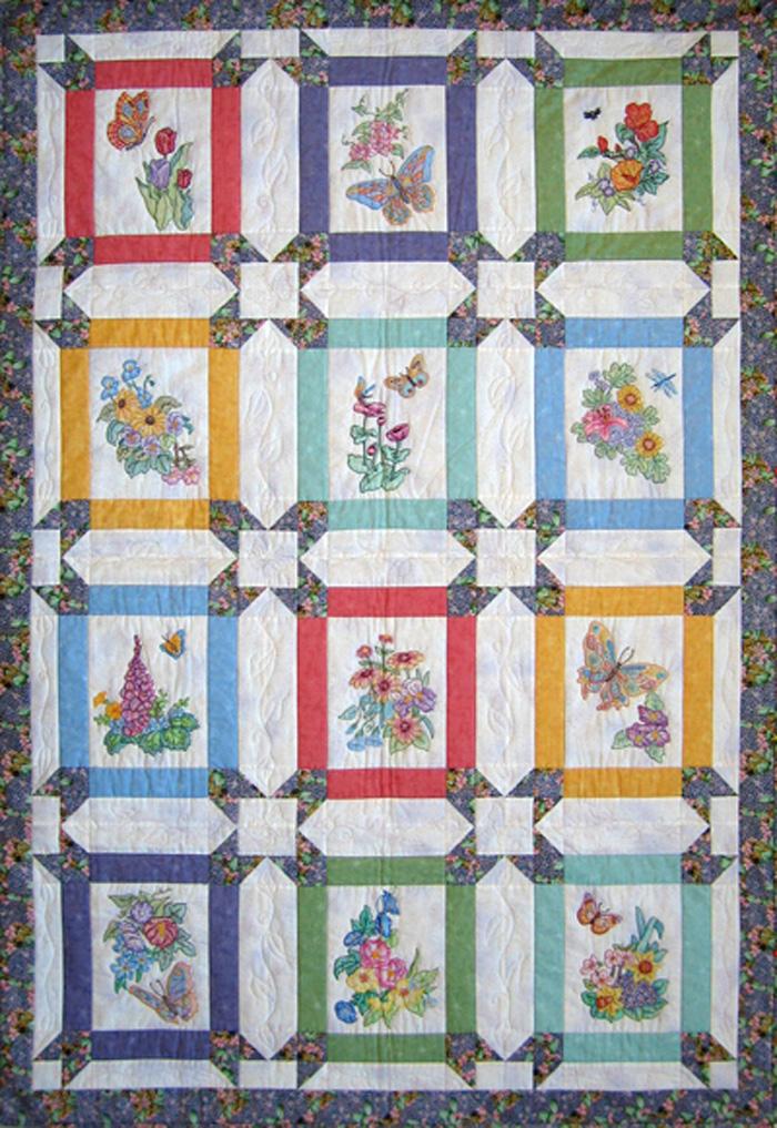 Butterfly Garden Bom Quilt Pattern Bcc Bg13 Advanced