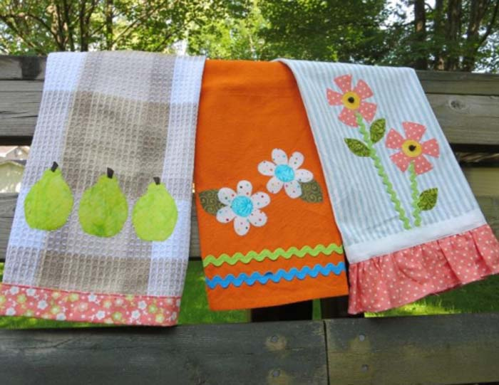 Every kitchen needs dish towels and with your sewing skills and this collection of patterns to make dish towels, you can make them yourself. Why not make dish towels that are super cute and crafty? Add a pop of color to your kitchen and make a useful kitchen accessory at the same time.