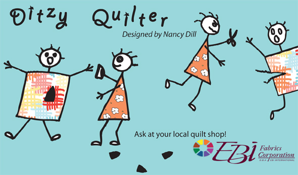 Ditzy Quilter Fabric by Nancy Dill