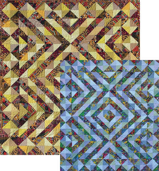 Amish Jazz Quilt Pattern AA-23 (advanced beginner, lap and throw)
