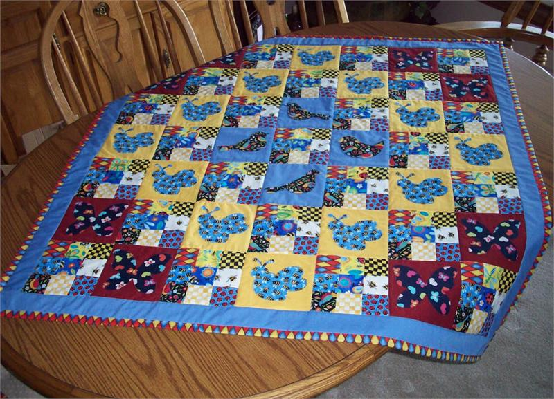 Birds Bees And Butterflies Quilt And Placemat Pattern Av 113