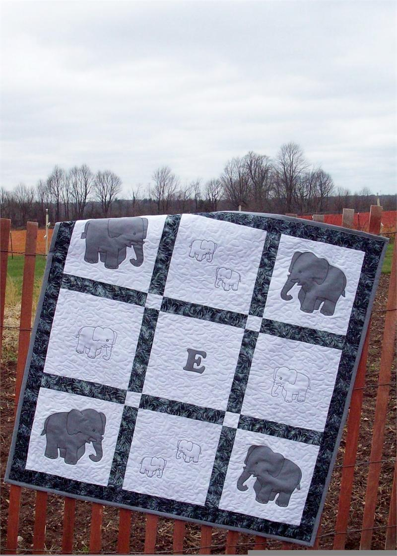 E Is For Elephant Quilt Pattern Av 129 Advanced Beginner