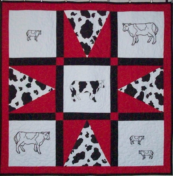 Holy Cow Embroidery Quilt Pattern Av 144 Advanced Beginner Lap