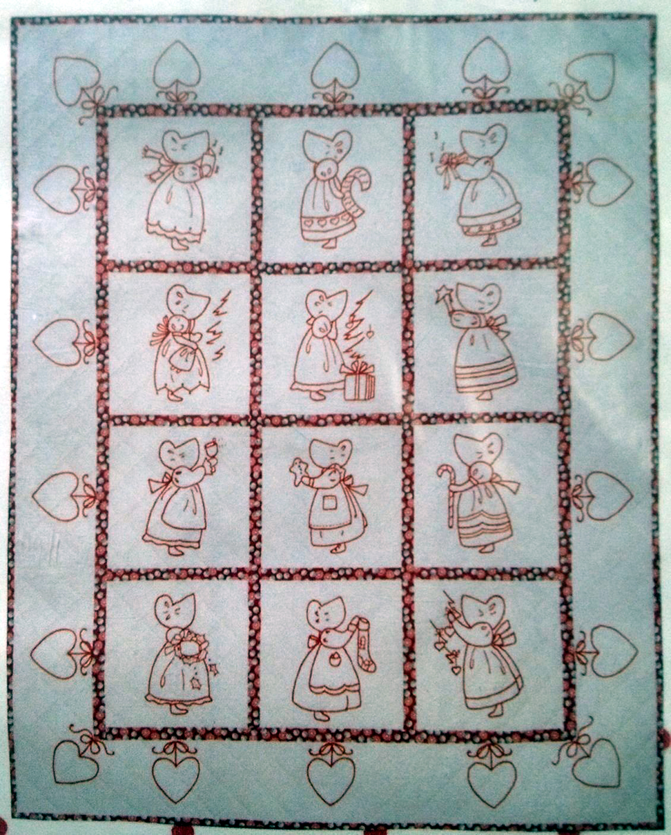 Redwork Quilt Patterns Christmas : A Redwork Christmas Embroidery Quilt Pattern BAD-051 ...