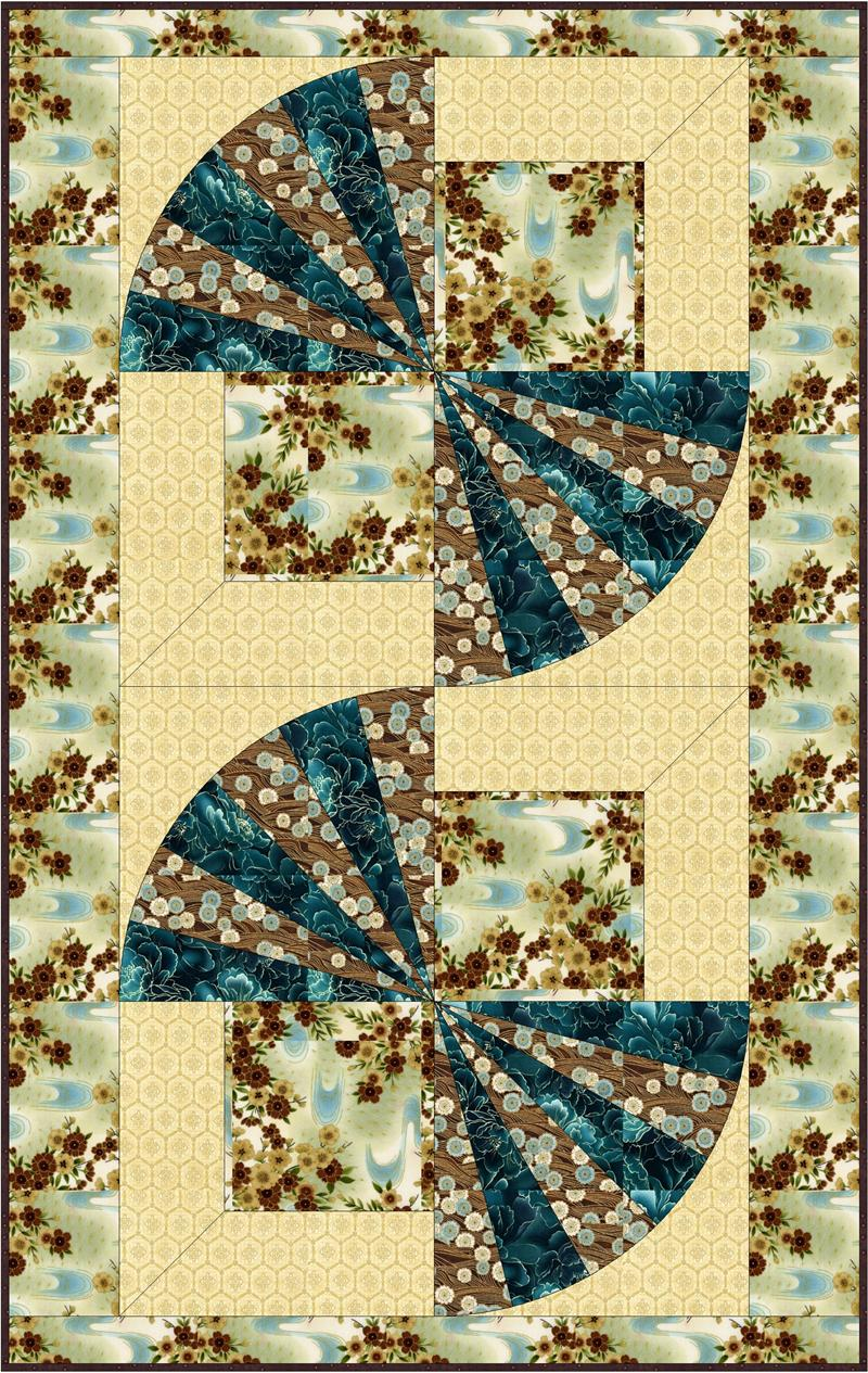 Oriental Fans Quilt Pattern BC-510 (wall hanging, table runner ...