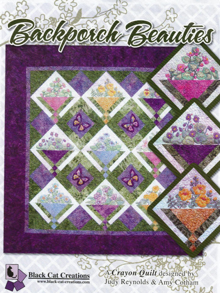 Back Porch Quilting Templates : Backporch Beauties Quilt Pattern BCC-092 (advanced beginner, wall hanging)