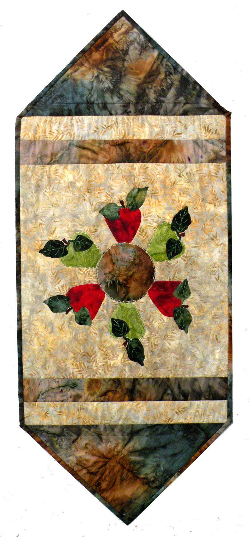 Batik Apple Table Runner Pattern BS2 284