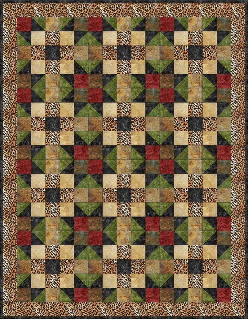Safari Fun Quilt Pattern Bs2 306 Advanced Beginner Lap