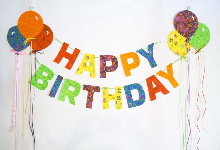 Happy Birthday Garland With Balloons Pattern Bs2 333 Just