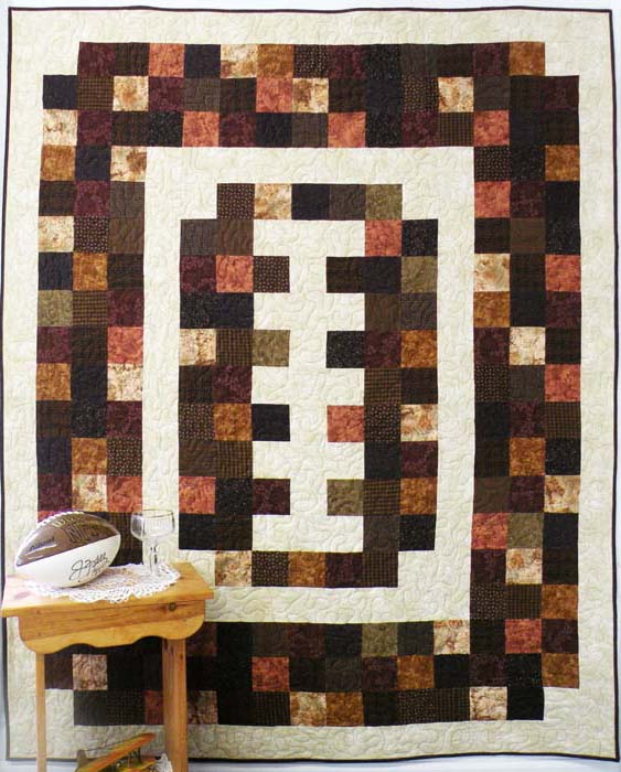 Quilt Patterns For Flannel : Football Flannel Quilt Pattern BS2-349 (advanced beginner, lap and throw)