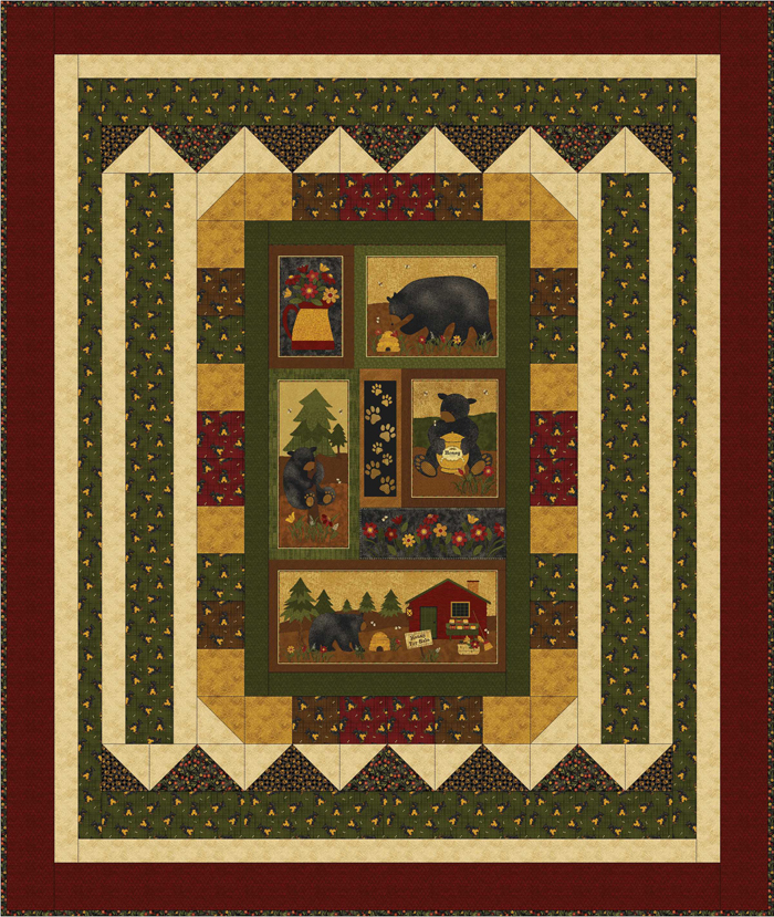 Bear Picnic Quilt Pattern Bs2 458 Advanced Beginner Lap And Throw