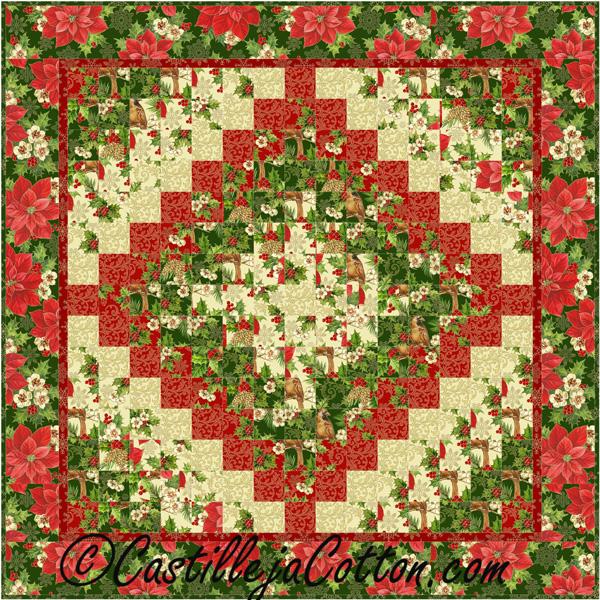 Christmas Eight Trip Quilt Pattern CJC-214727 (advanced beginner ...