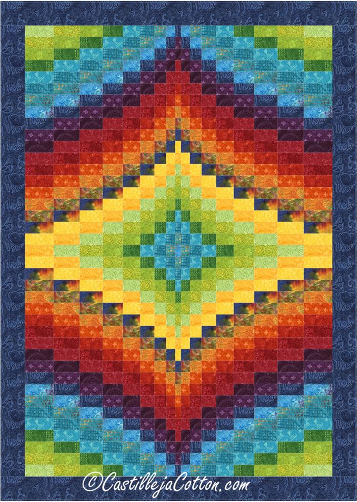 Twin Diamond Quilt Pattern CJC-49501 (intermediate, twin)