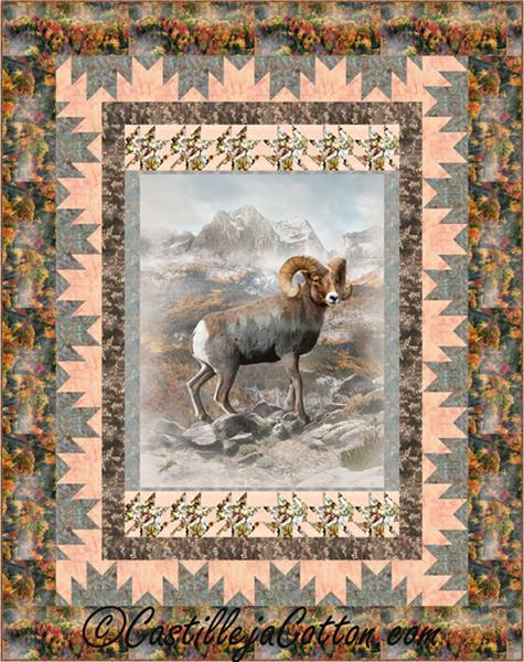 Mountain Sheep Quilt Pattern Cjc 52231 Advanced Beginner Twin