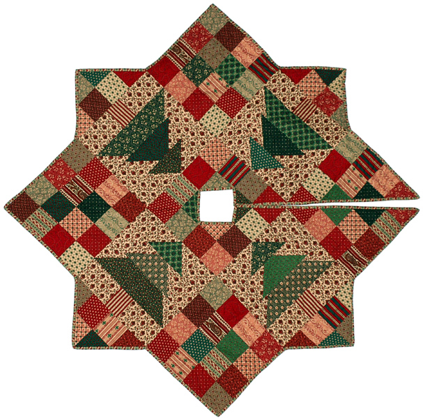 christmas patch tree skirt quilt pattern cmq 109 - Christmas Tree Skirt Pattern