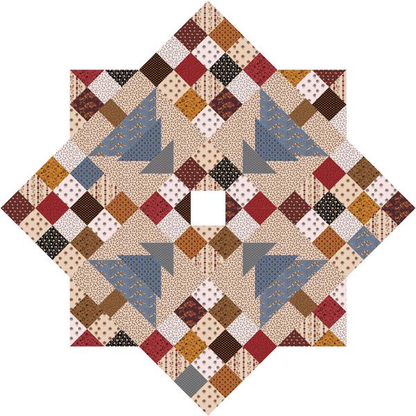 Christmas patch tree skirt quilt pattern cmq
