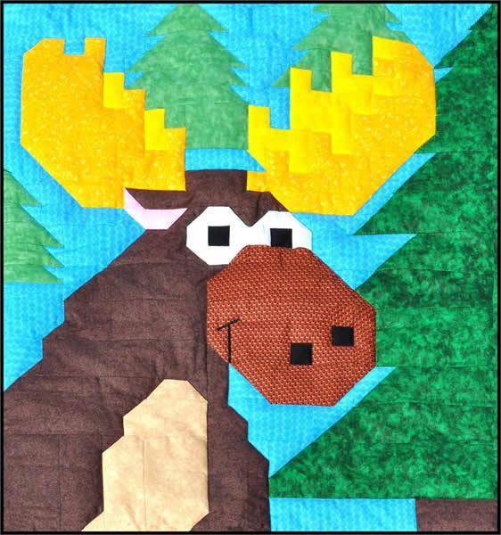 Moose Quilt Pattern CQ-026 (advanced beginner, lap and throw) : moose quilt pattern - Adamdwight.com