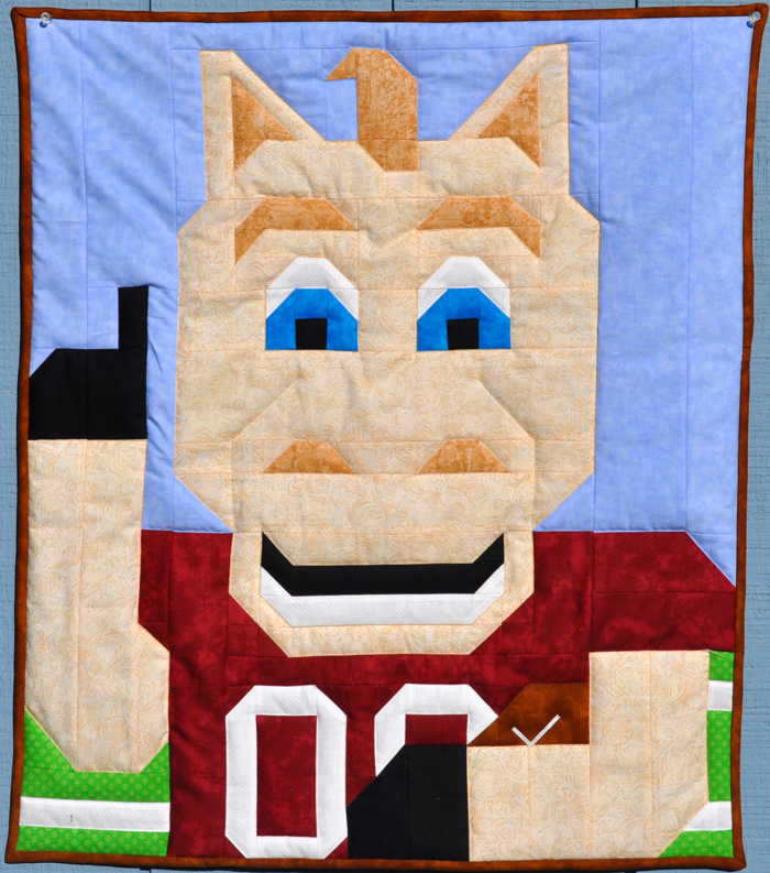 Football Horse Quilt Pattern Cq F004 Advanced Beginner Baby Wall