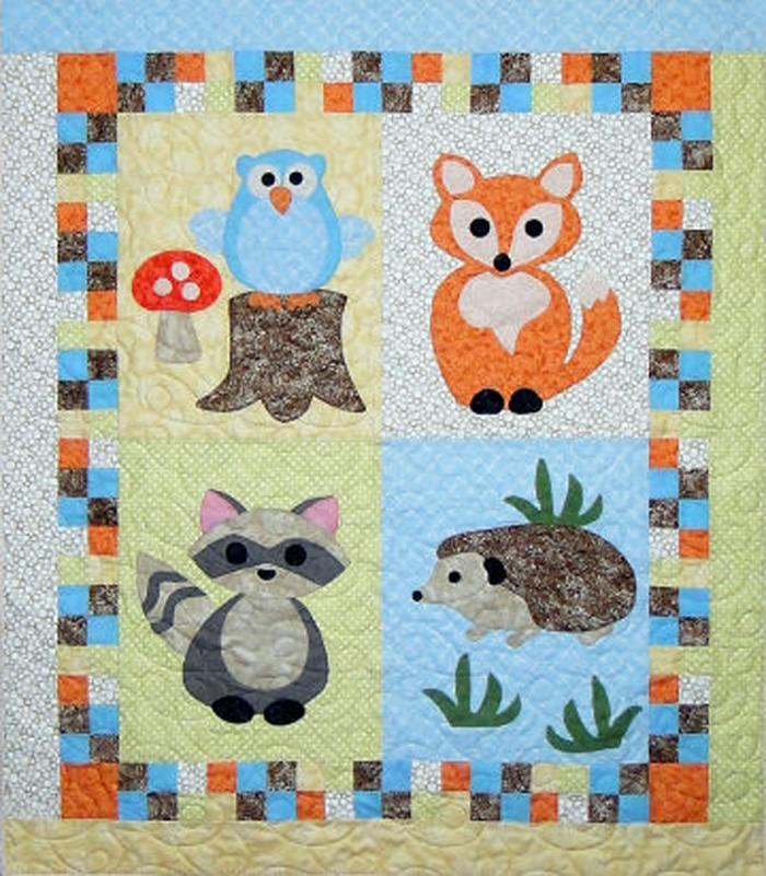 Woodland Babies Quilt Pattern Ctg 166 Advanced Beginner