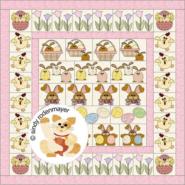 Easter Row By Row Quilt Pattern FCP-012 (advanced beginner, full) : row quilts patterns free - Adamdwight.com
