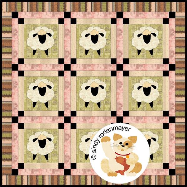 Baa Baa Sheep Quilt Pattern Fcp 015 Throw Advanced Beginner