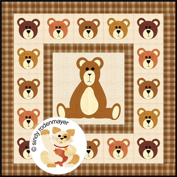 Big Bear Quilt Pattern Fcp 031 Easy Lap And Throw