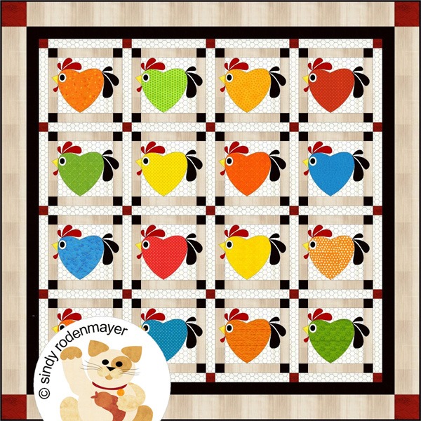 eb5c3fdba Chicken Hearted Quilt Pattern FCP-043 (advanced beginner