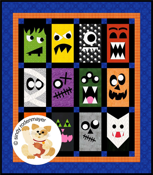 ff4aae87a Monster Mash Up Quilt Pattern FCP-051 (advanced beginner