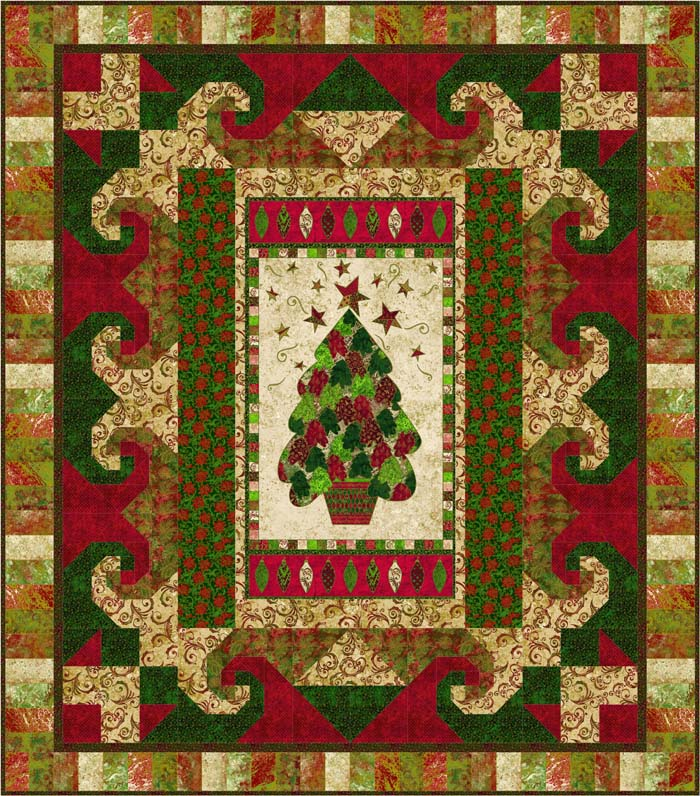 Pick-A-Panel Quilt Pattern GTD-120 (intermediate) : christmas quilting panels - Adamdwight.com