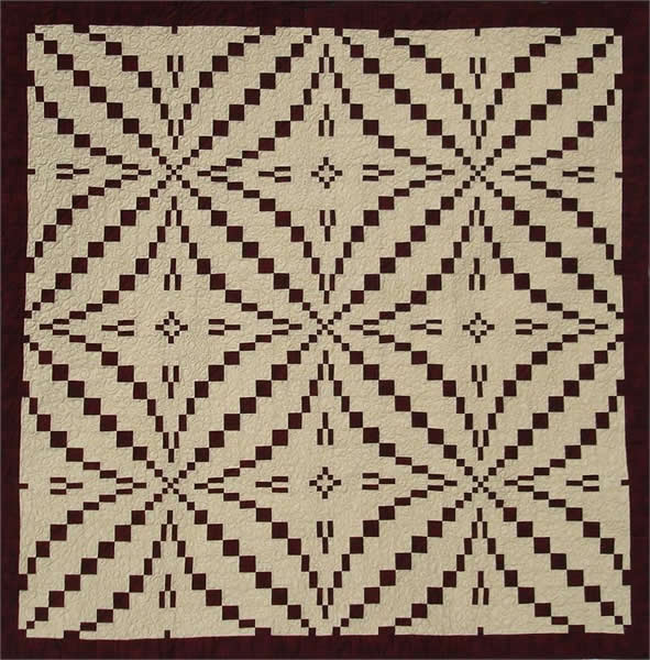 Intermediate Quilting Patterns : King s Puzzle Quilt Pattern HQ-202 (intermediate, lap, throw)