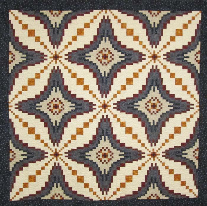 Intermediate Quilting Patterns : Desert Diamonds Quilt Pattern HQ-219 (intermediate, wall hanging, queen)