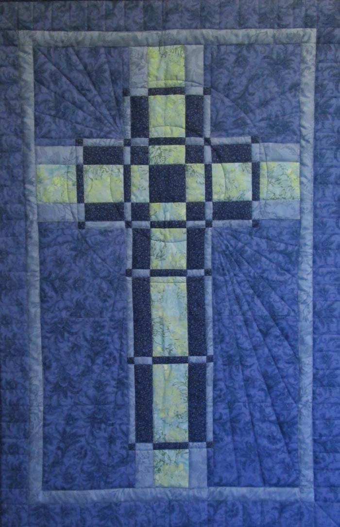 Woven Cross Quilt Pattern HQ60 Intermediate Wall Hanging Awesome Free Cross Quilt Patterns