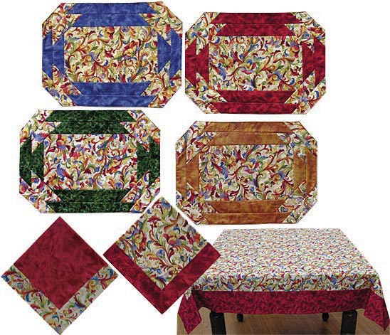 Table Graces Placemat Pattern JD-01 : quilted placemat pattern - Adamdwight.com