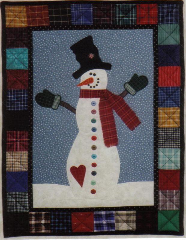 Buttons The Snowman Quilt Pattern Jmi 204 Intermediate Wall Hanging