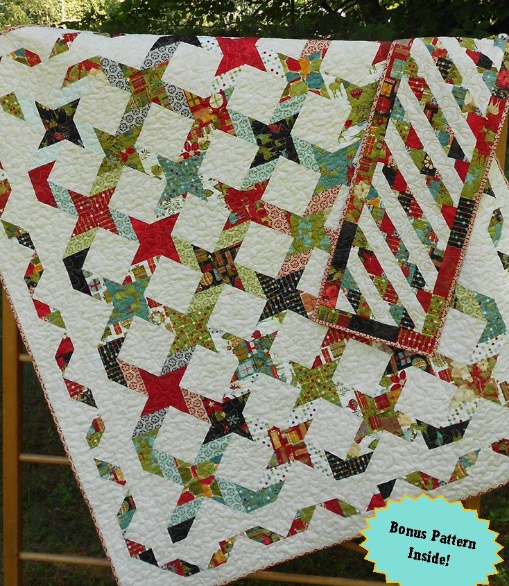 With The Stars Quilt and Table Runner Pattern LLD-041 : quilting with the stars - Adamdwight.com