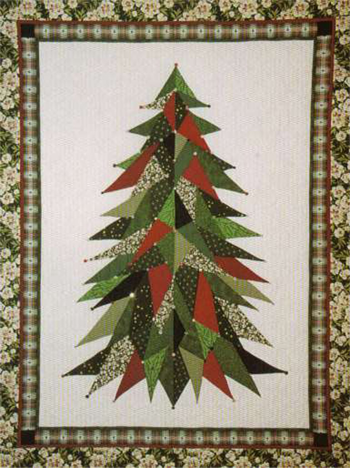 sage country christmas tree quilt pattern lsc 0101