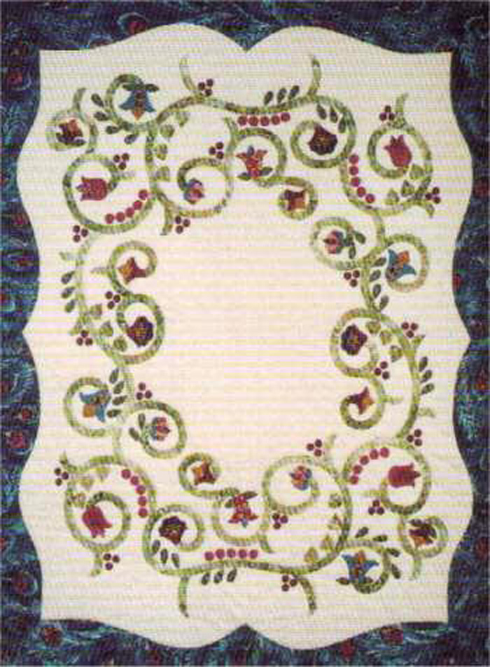 Jacobean Spring Quilt Pattern LSC-0205 (intermediate, wall hanging) : spring quilt patterns - Adamdwight.com