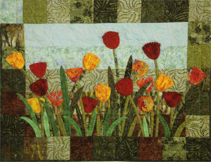 Tulip Fields Quilt Pattern Lsc 1401 Advanced Beginner Wall Hanging