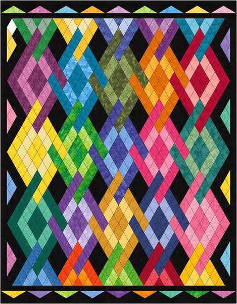 Peggy S Diamonds Quilt Pattern Mgd 111 Intermediate