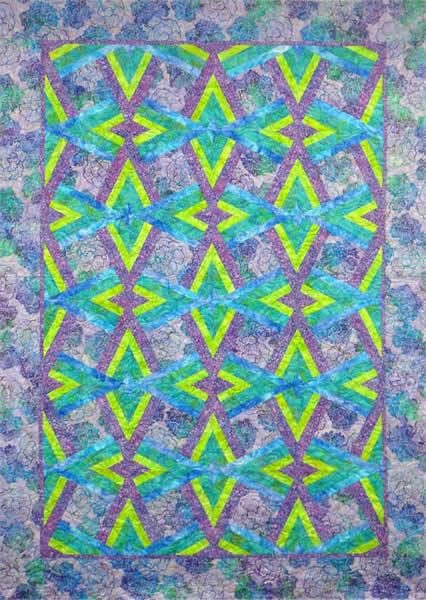 Double Diamond Quilt Pattern NJD-101 (AccuQuilt GO!, intermediate ... : diamond double quilt pattern - Adamdwight.com