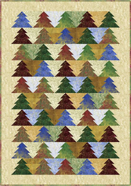 Oh Christmas Tree! Quilt Pattern PC-119 (beginner, jelly roll ...