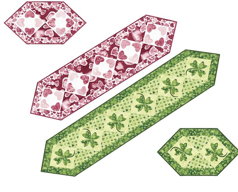 Quilt Patterns For Table Runners And Placemats : Special Occasions Placemat & Table Runner Pattern PC-135 (advanced beginner, housewares)