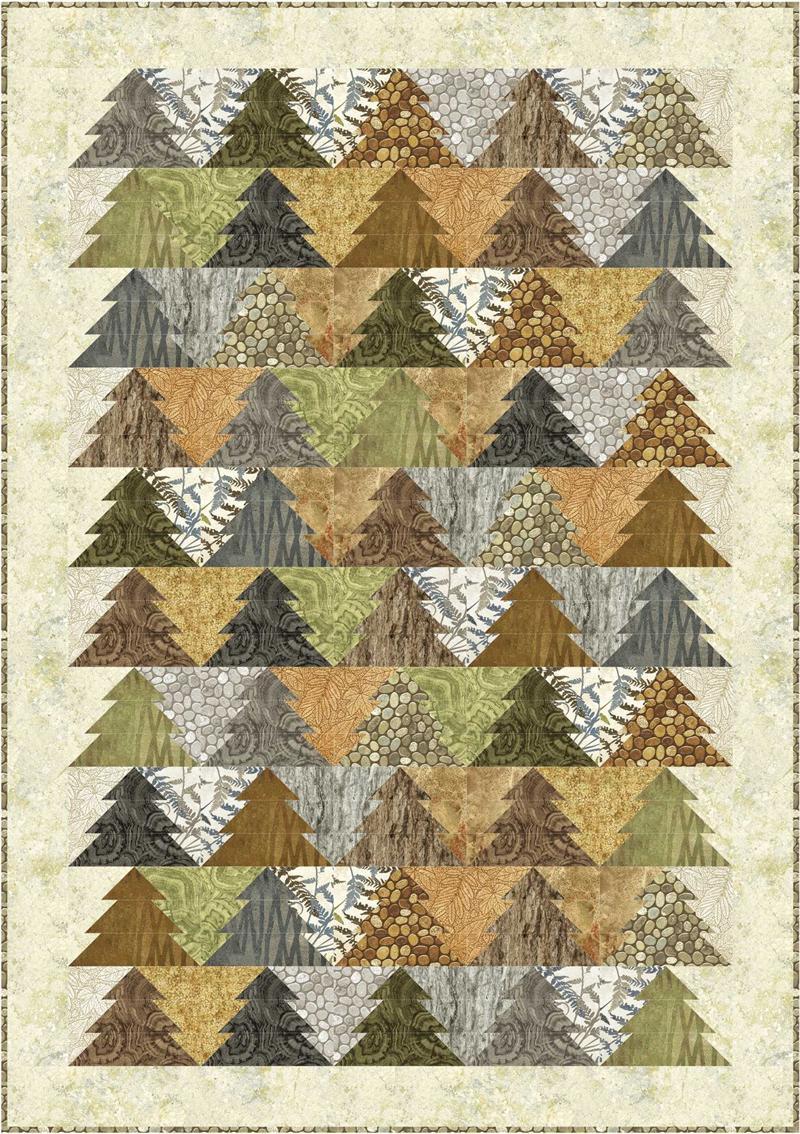 woodland trees quilt pattern pc 138 advanced beginner queen