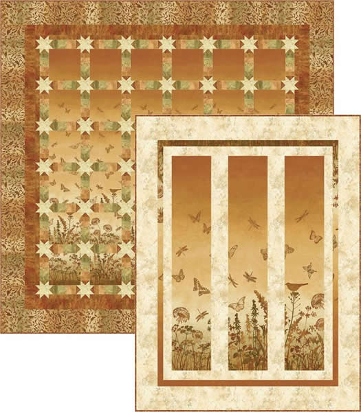 Meadow Stars Quilt Pattern PC-151 (advanced beginner, wall hanging)