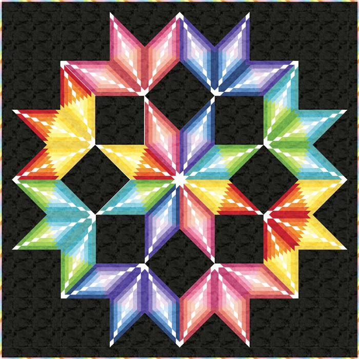 Colorburst Quilt Pattern Pc 161 Advanced Wall Hanging
