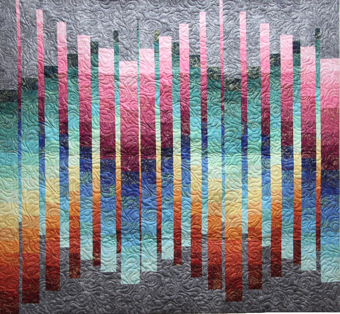 Shimmering Strata Quilt Pattern PC-163 (advanced beginner, wall ... : bargello quilt book - Adamdwight.com