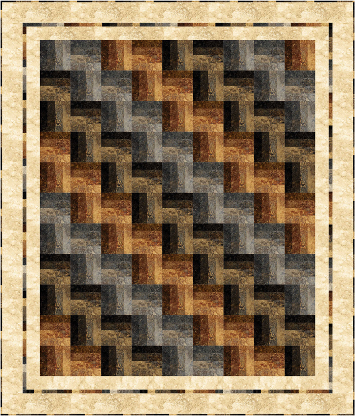 Easy Quilt Patterns Rail Fence : Strip-Easy Rail Fence Quilt Pattern PC-187 (advanced beginner, lap and throw, twin, double/full ...