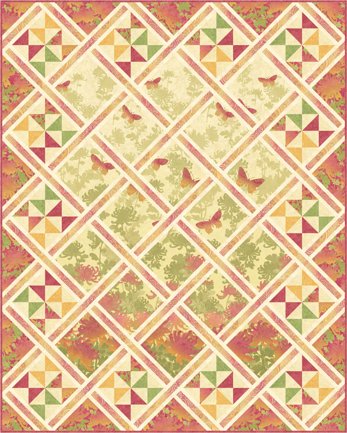 Butterfly Lattice Quilt Pattern Pc 198 Intermediate Lap And Throw