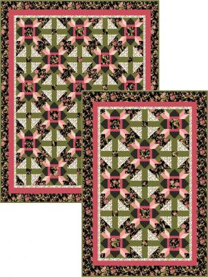 Black Floral Crossroads Quilt Pattern BS2-318