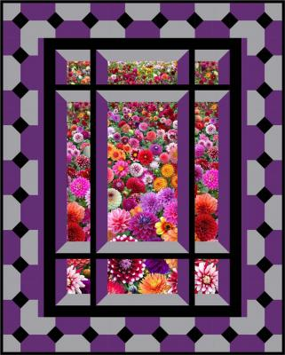 Modern Window Quilt Pattern Bs2 421 Advanced Beginner Wall Hanging